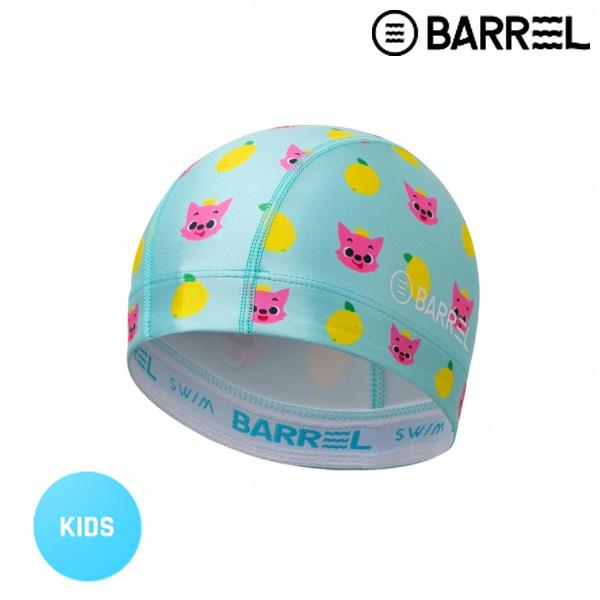 배럴 핑크퐁 듀라플로우 패턴 스윔 캡-레몬 천수모