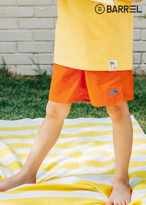 배럴 키즈 스트링 보드숏-오렌지