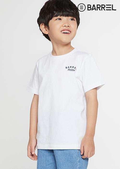 배럴 키즈 서퍼스 클럽 라운드 셔츠-화이트