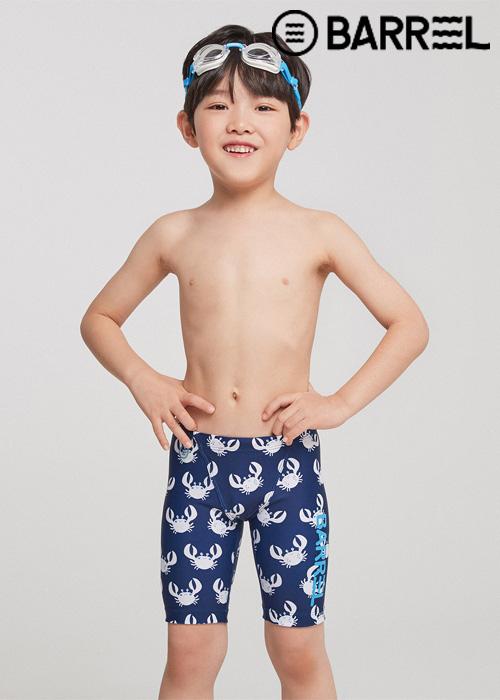 배럴 키즈 트레이닝 패턴 재머 스윔슈트-크랩 3부 수영복