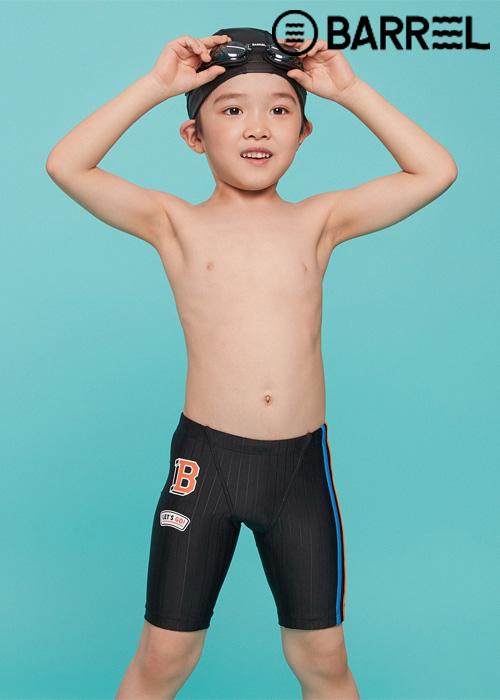 배럴 키즈 트레이닝 와펜 재머 스윔슈트-블랙 3부 수영복