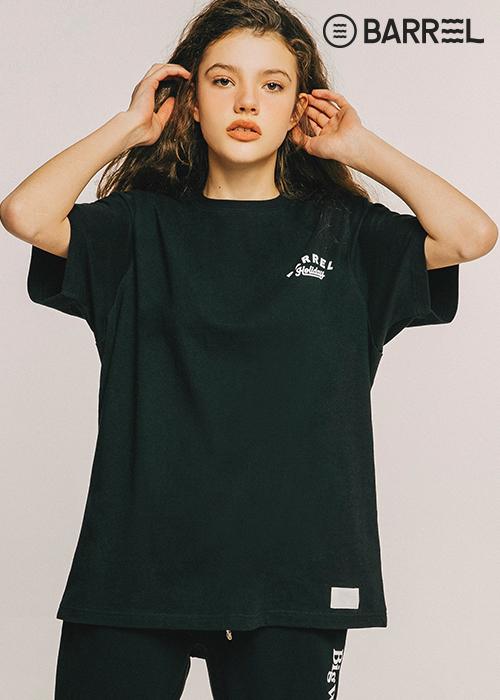 배럴 유니섹스 서퍼스 클럽 라운드 셔츠-블랙