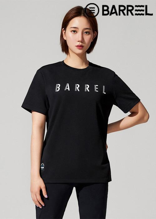 배럴 유니섹스 인스파이어드 스윔크루 티셔츠-블랙