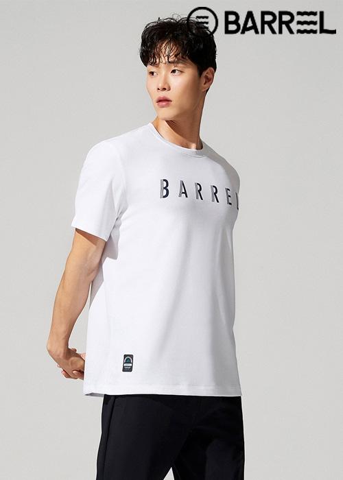 배럴 유니섹스 인스파이어드 스윔크루 티셔츠-화이트
