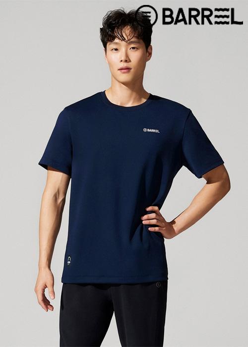 배럴 유니섹스 인스파이어드 스윔클럽 티셔츠-네이비