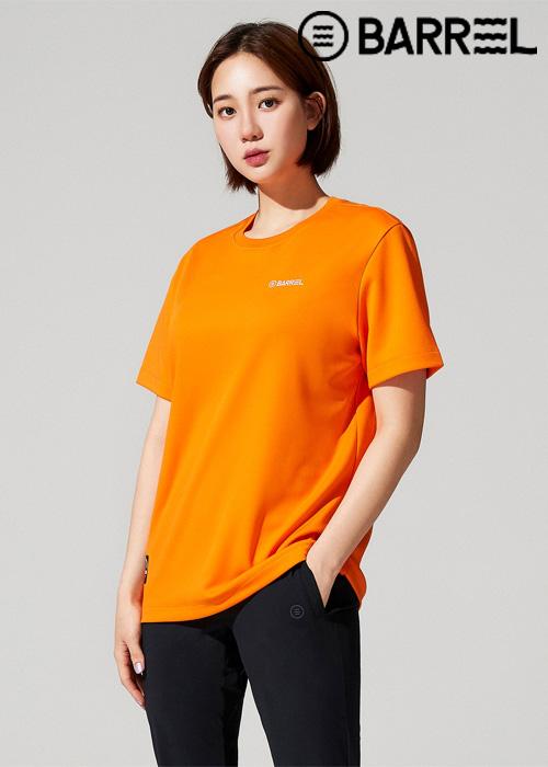 배럴 유니섹스 인스파이어드 스윔클럽 티셔츠-오렌지