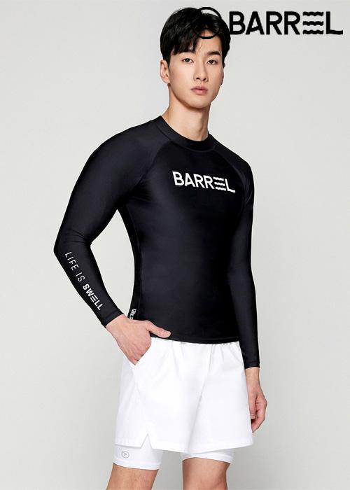 배럴 맨 베이직 썬 래쉬가드-블랙