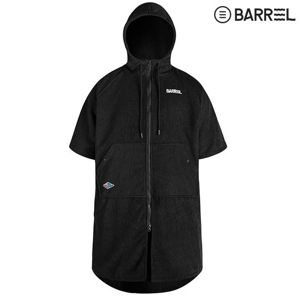 배럴 코지 집업 판초 타월-블랙 수영용품