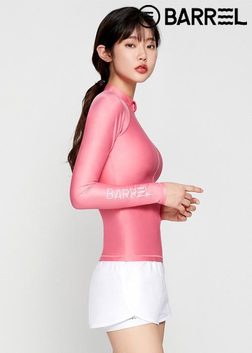 배럴 우먼 피하 집업 래쉬가드-로즈 핑크