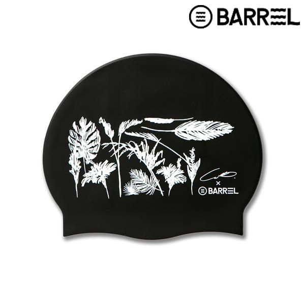 배럴 데크레센도 스윔 캡-블랙 실리콘 수모