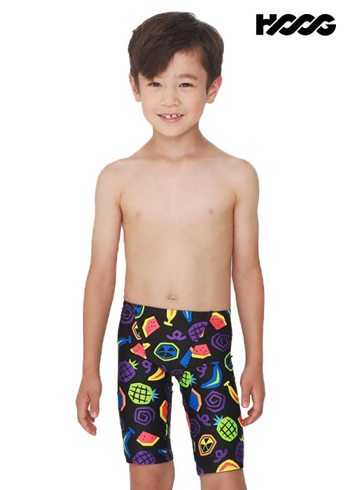 후그 BLA224 5부 남아동용 수영복