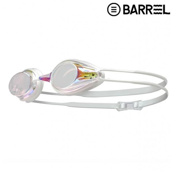 배럴 레이싱 스윔 고글-클리어/화이트 패킹 수경