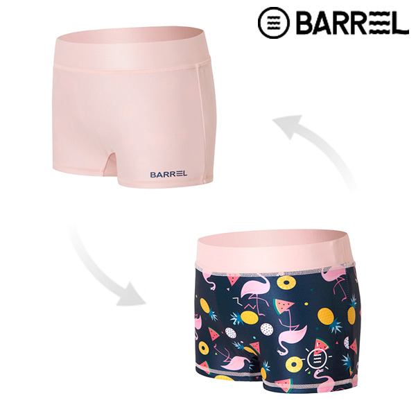 (배럴 아울렛)키즈 리버서블 팬츠-브라이트 핑크/키즈 플라밍고 V2