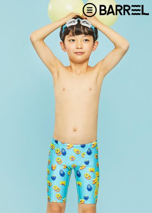 배럴 키즈 트레이닝 패턴 재머 스윔슈트-아보카도 3부 수영복