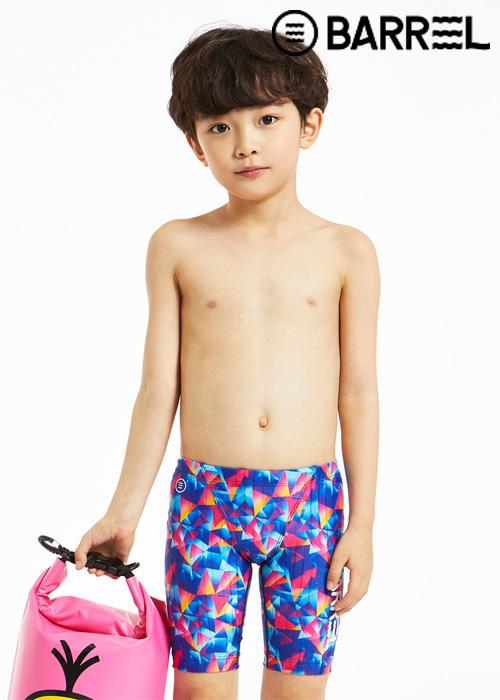배럴 키즈 트레이닝 패턴 재머 스윔슈트-키즈 프리즘 3부 수영복