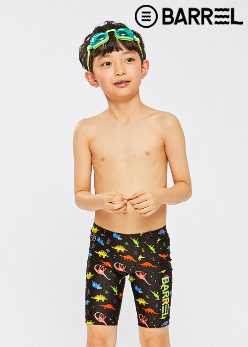 배럴 키즈 트레이닝 패턴 재머 스윔슈트-네온디노 3부 수영복
