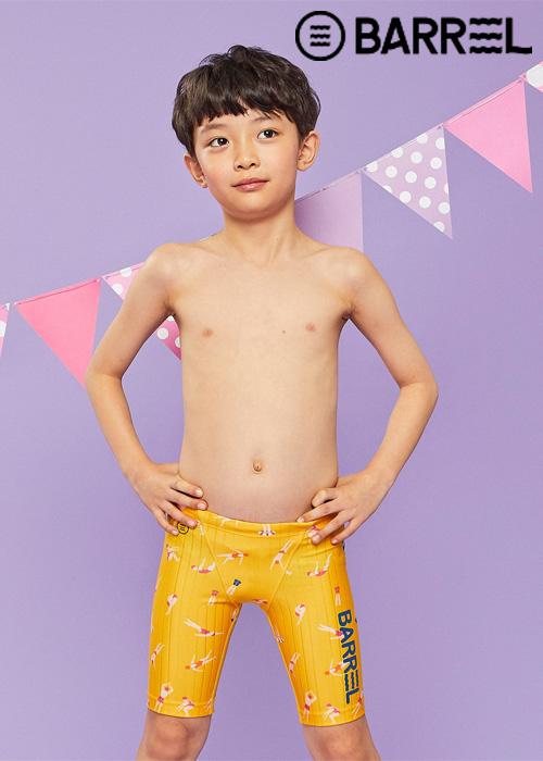 배럴 키즈 트레이닝 패턴 재머 스윔슈트-스위머즈 3부 수영복