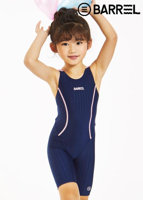 배럴 키즈 트레이닝 테크 스윔슈트-네이비 반전신 수영복
