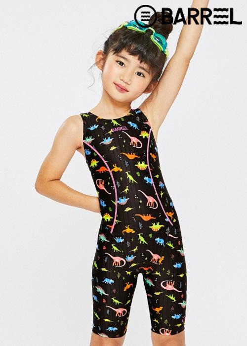 배럴 키즈 트레이닝 테크 스윔슈트-네온디노 반전신 수영복