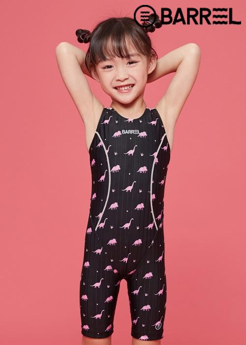 배럴 키즈 트레이닝 테크 스윔슈트-핑크 디노 반전신 수영복