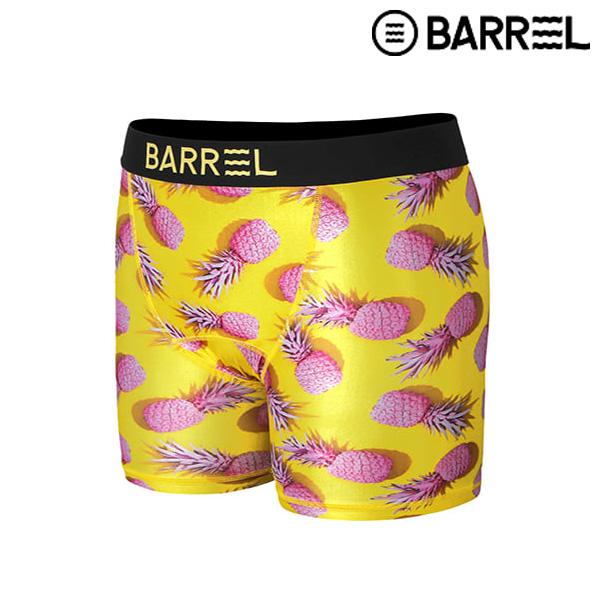 (배럴 아울렛)맨 포인트 패턴 이너웨어-핑크 파인애플