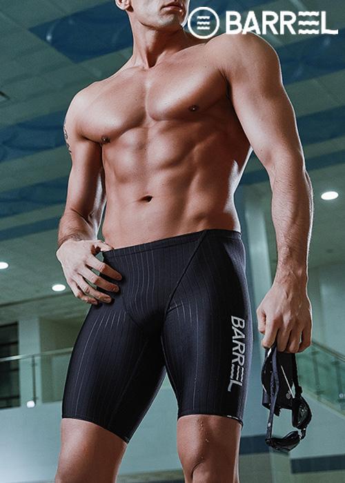 (아울렛)배럴 맨 트레이닝 재머 스윔슈트-블랙 5부 수영복