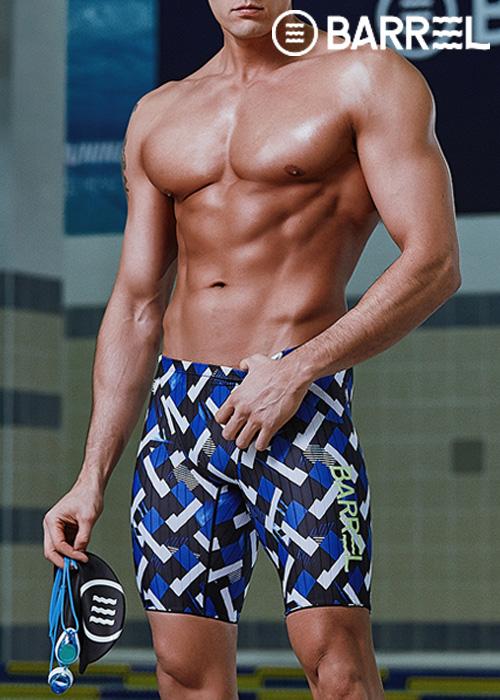 (아울렛)배럴 맨 트레이닝 재머 스윔슈트-블루 다이아 5부 수영복