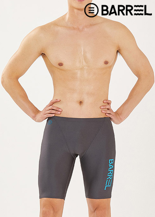(아울렛)배럴 맨 레이싱 핏 재머 스윔슈트-딥그레이 5부 수영복