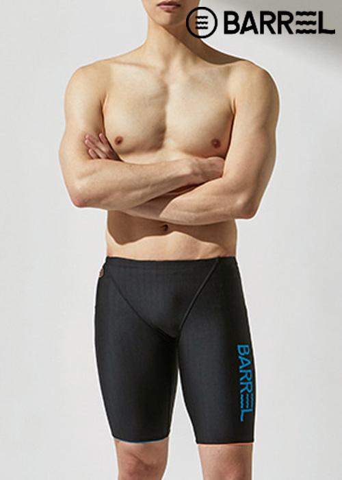 (아울렛)배럴 맨 트레이닝 핏 ODD 재머 스윔슈트-블랙/아쿠아 블루/피치 5부 수영복