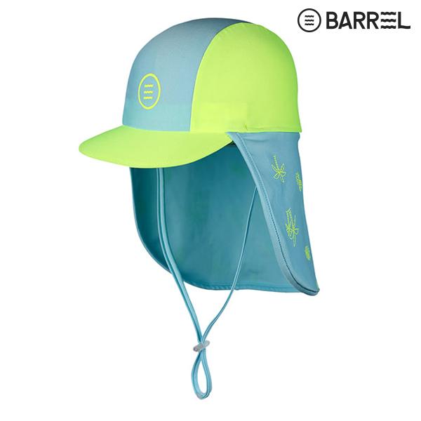 키즈 배럴 아쿠아캡 V3-민트 네온옐로우 물놀이 모자