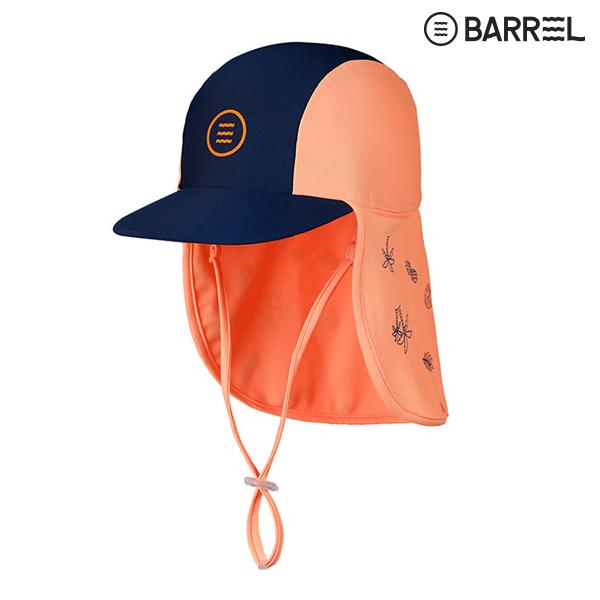 키즈 배럴 아쿠아캡 V3-네이비 피치 물놀이 모자