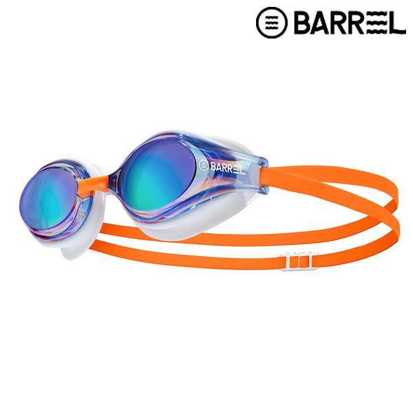 배럴 챌린저 스윔 고글-블루/오렌지 패킹 수경