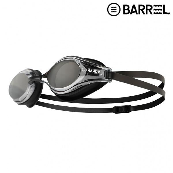 배럴 챌린저 스윔 고글-블랙 미러/블랙 패킹 수경