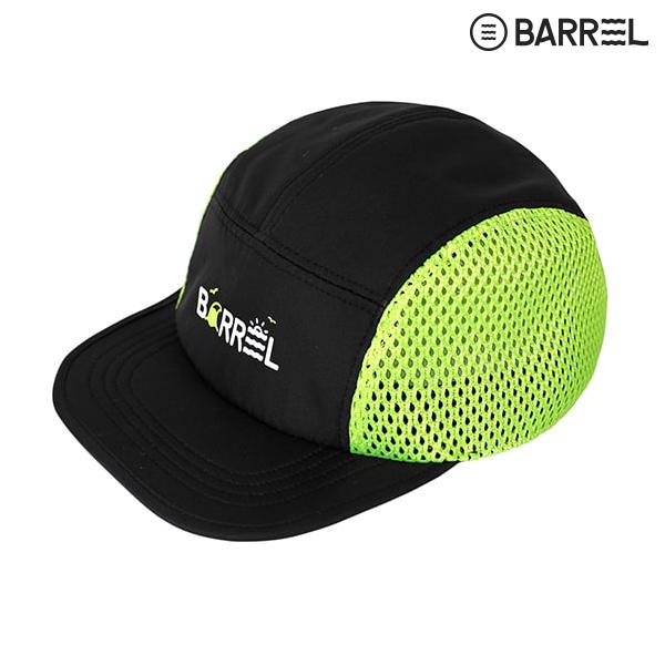 배럴 키즈 서프 캠프캡-블랙 네온옐로우 물놀이 모자