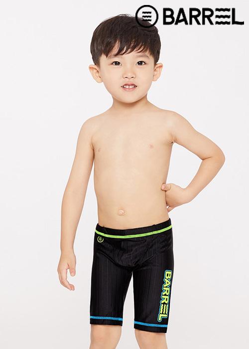 배럴 키즈 트레이닝 스트로크 재머 스윔슈트-블랙 3부 수영복