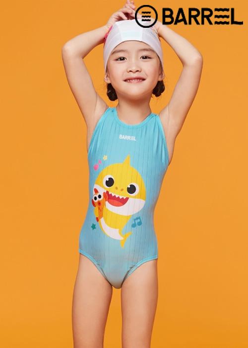 배럴 키즈 핑크퐁 트레이닝 V 백 스윔슈트-올리 원피스 수영복