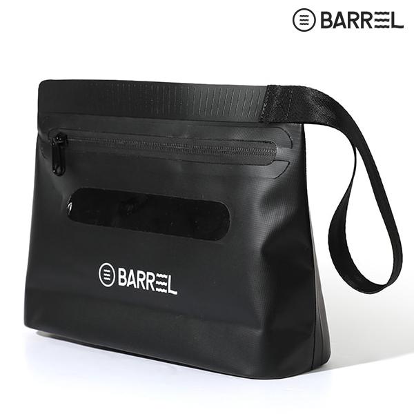 배럴 드라이 핸드 파우치-블랙