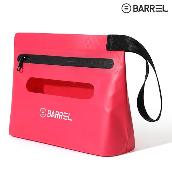배럴 드라이 핸드 파우치-핑크