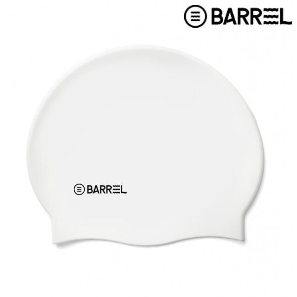 배럴 베이직 로고 스윔 캡-화이트 실리콘 수모