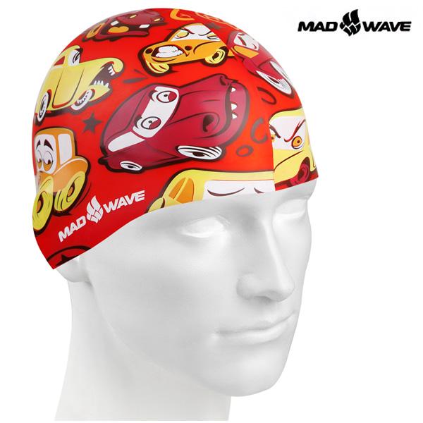 CARS (RED) MAD WAVE 실리콘 수모 주니어