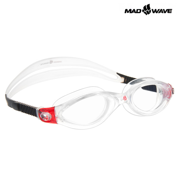 CLEAR VISION CP LENS(RED) MAD WAVE 일반용 패킹 노미러 수경