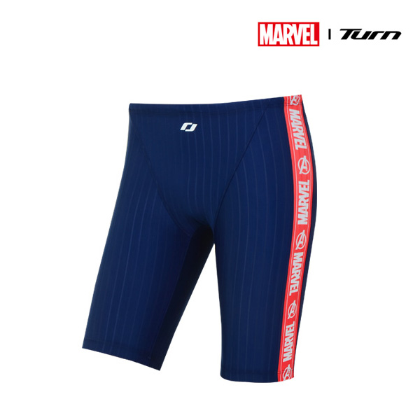 디즈니-턴 DKACF01 (NVY)남성 선수용 4부 사각 수영복