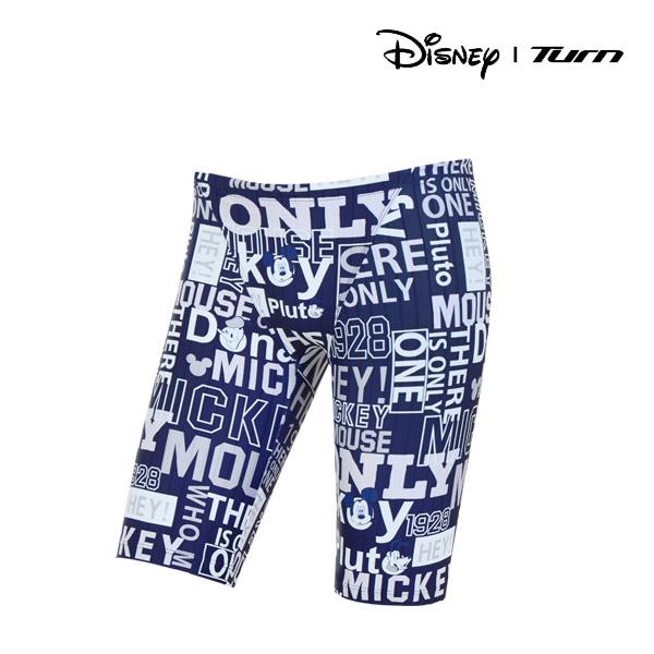 디즈니-턴 DKACF26 (NVY)남성 선수용 4부 사각 수영복