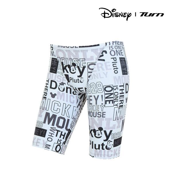 디즈니-턴 DKACF26 (WHT)남성 선수용 4부 사각 수영복