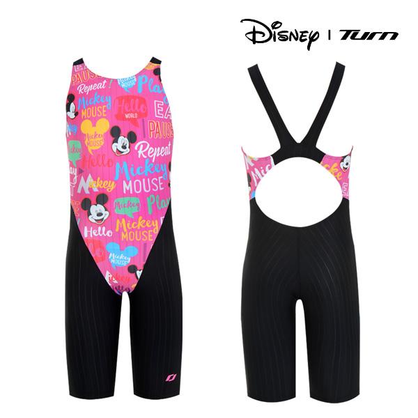 디즈니-턴 DKACG25 (PNK)여아동 선수용 반전신 수영복