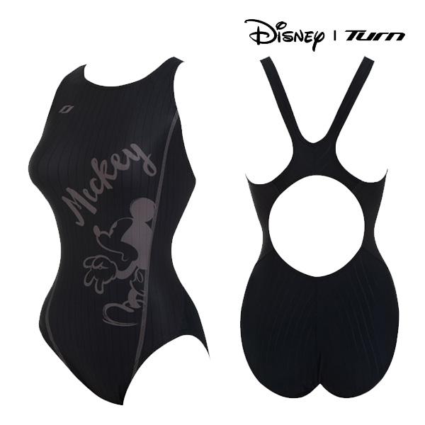 디즈니-턴 DKALO01 (BLK) 여성 일반 원피스 수영복