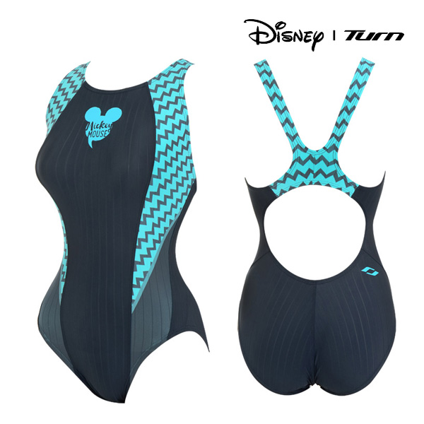 디즈니-턴 DKALO11 (GRY) 여성 일반 원피스 수영복