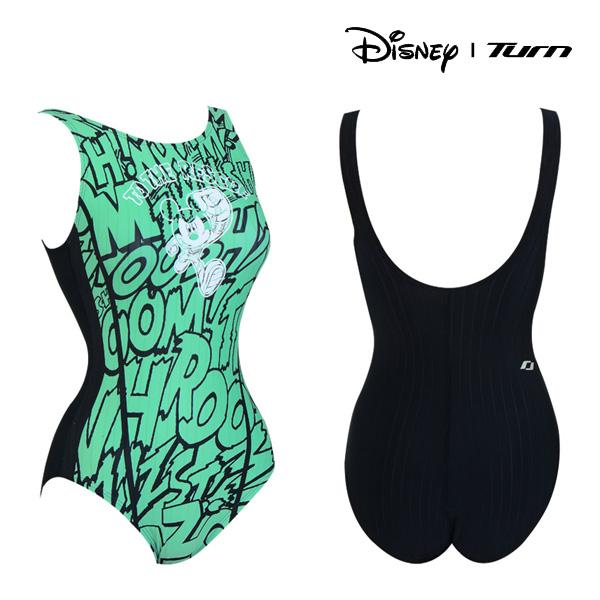 디즈니-턴 DKALO24 (GRN) 여성 일반 원피스 수영복