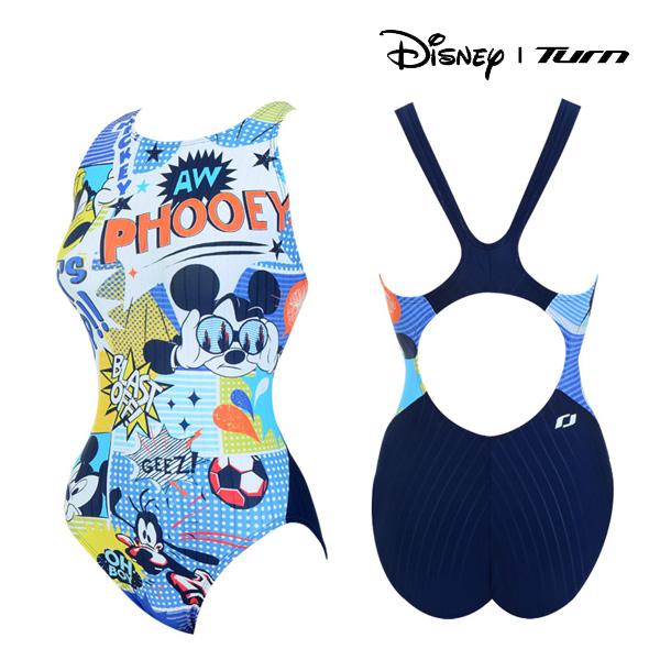 디즈니-턴 DKALO25 (BLU) 여성 일반 원피스 수영복