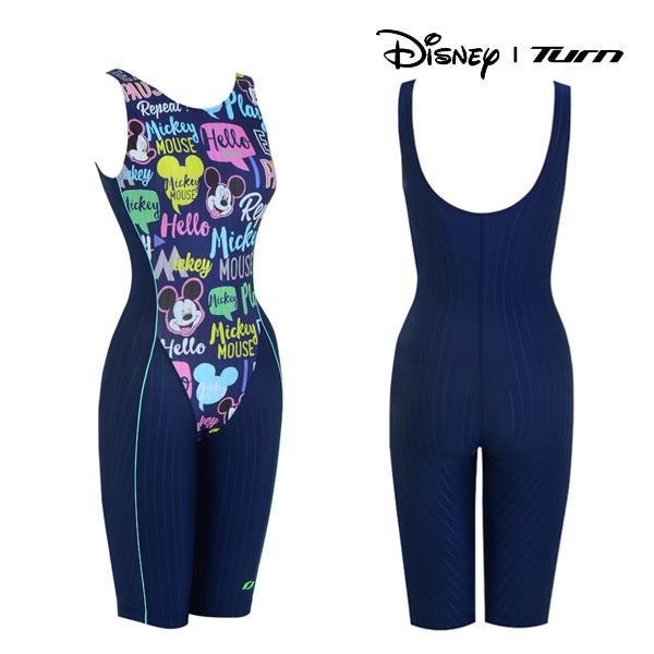 디즈니-턴 DKALO66 (NVY) 여성 일반 반전신 수영복